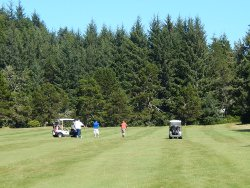 6th fairway at Agate Beach Golf Course
